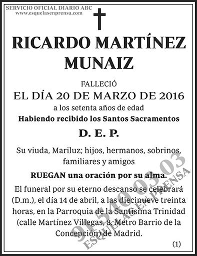 Ricardo Martínez Munaiz